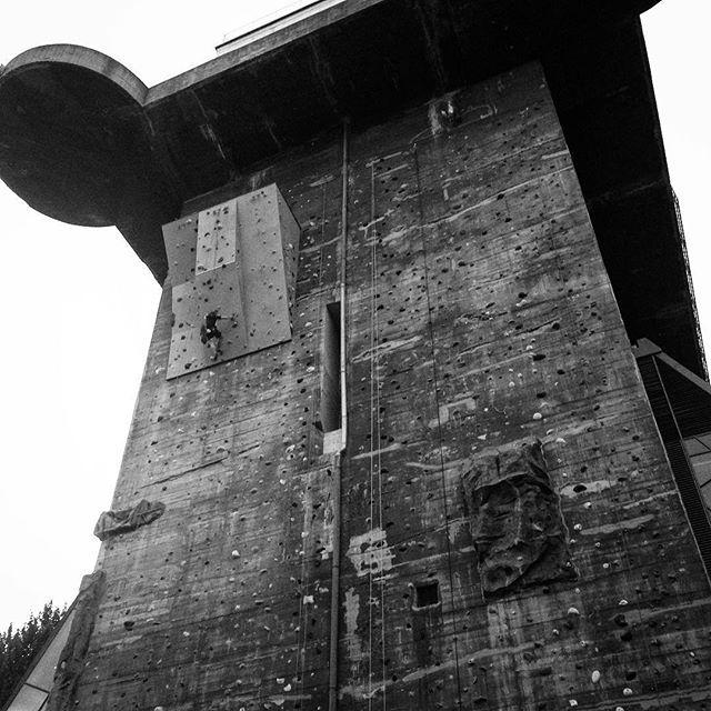 #concrete #austria #vienna #wien #naziarchitecture #flaktower #climbingwall #climbing #concrete #brutalist #zoo #hausdesmeeres #aquarium
