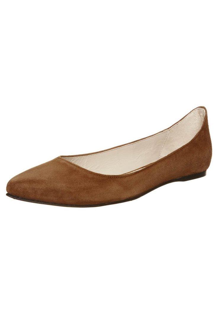 Ganni - ELLA - Ballerinasko - brun