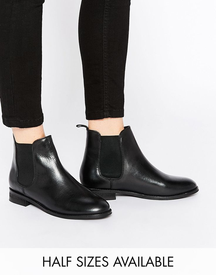 Buy Women Shoes / New Look Wide Fit Premium Leather Bill Ankle Boots