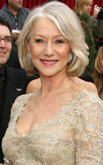 Helen Mirren .. This will be my hair when I'm officially old