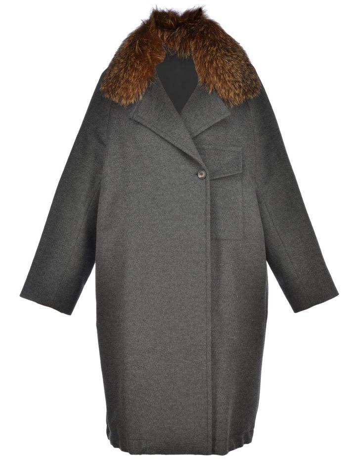 BRUNELLO CUCINELLI COAT WITH FUR. #brunellocucinelli #cloth #