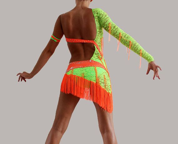 Competition Latin Ballroom Dance dress Salsa by CrinolinAtelier