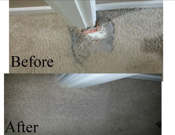 how to fix melted berber carpet