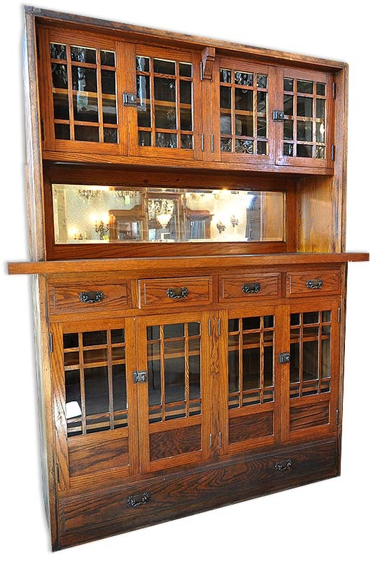 Antique Buffet Built In As Room Divider