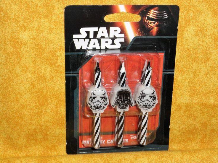 Star Wars,Trooper,Vader Birthday Icon Candles,Decopac,Wax Cake Topper.Birthday