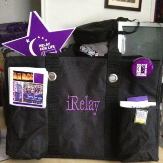 relay for life organizing utility tote