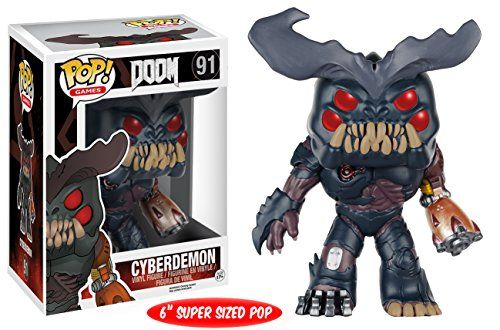 From Doom, 6″ Cyber demon, as a stylized POP vinyl from Funko! Determine stands 6 inches and is available in a window show field. Take a look at the opposite Doom figures from Funko! Gather all of them!