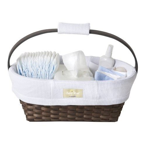 Munchkin Sarabear Portable Diaper Caddy. Keeps everything organized and easy to move wherever you need it.