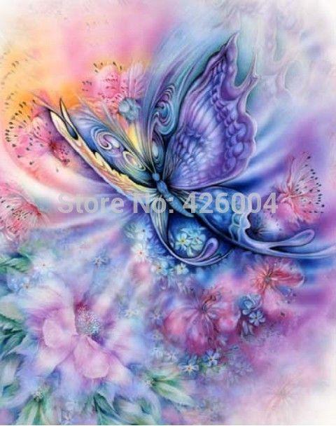 Droom vlinder decoratie diamant borduurwerk sets vuurtoren diamant vierkante strass mode landschap decor schilderen VB231
