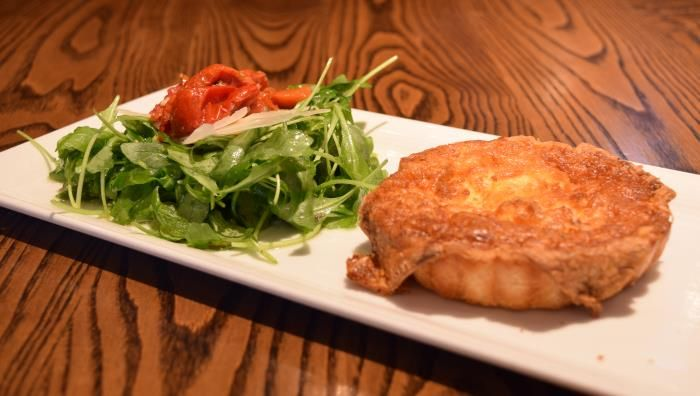 Crab, Roasted Leek and Gruyère Quiche with arugula salad   Green Valley Grill   Greensboro, NC