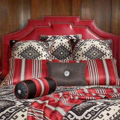 Red Leather Headboard | King Ranch