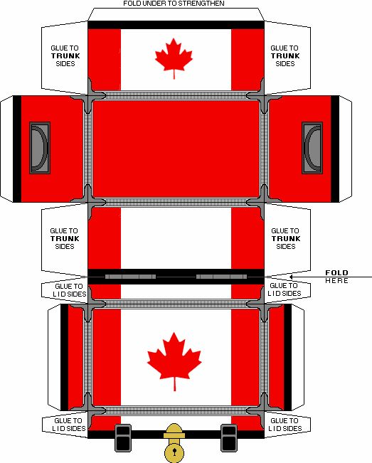 Canadian flag trunk