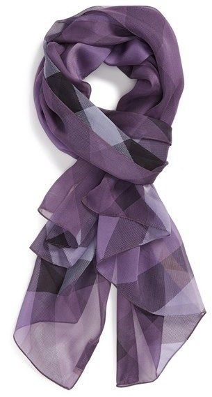 Burberry 'Mega Check' Silk Scarf