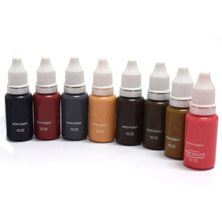 Tinta de Tatuagem profissional Microblading Micro Pigmento de Maquiagem Permanente para Sobrancelha Delineador Lip 1/2 oz 15 ML Luz Marrom 1 Peças em Tintas de tatuagem de Beleza & Saúde no AliExpress.com | Alibaba Group