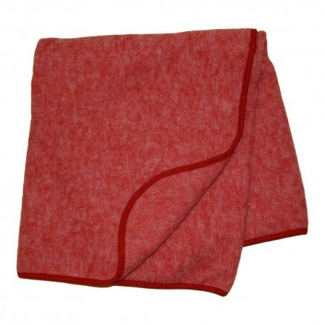 Wool blanket, baby, 80x100cm, merino wool, red, Cosilana