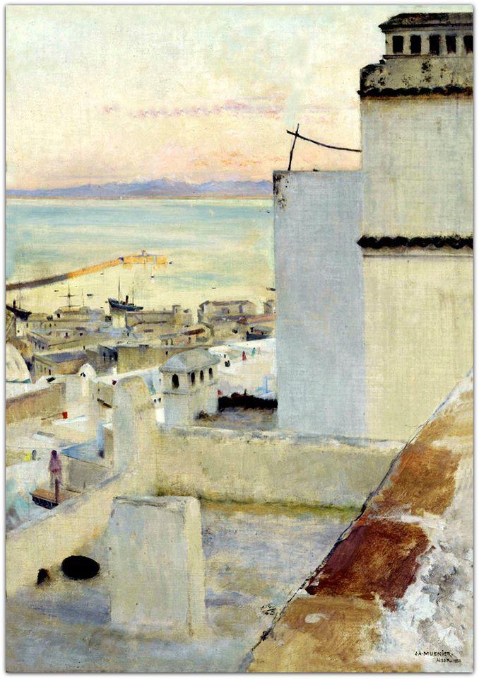 1888 - Le port d'Alger (Jules Alexis Muenier) | Realistic painting,  Painting, Le port