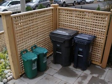 Landscaping Ideas To Hide Pool Equipment pool pump air conditioner fence cover Hide Garbage Cans Design Ideas Pictures Remodel And Decor Page 3