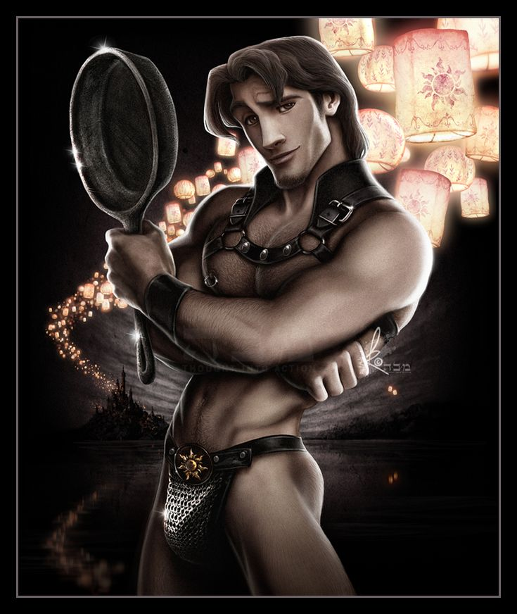 sexy Flynn_ Leading men of Disney Sexy Flynn Rider__David created these incredibly realistic versions of the animated love interests from our favorite Disney princess movies, complete with rippling muscles and smoldering glances.   — tressugar.com    ____ (If Rapunzel could see me now)