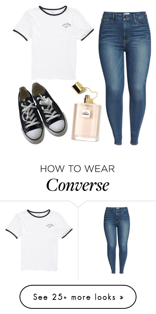 """~kiss me~"" by sleepy-squid on Polyvore featuring Converse, Good American and Vans"