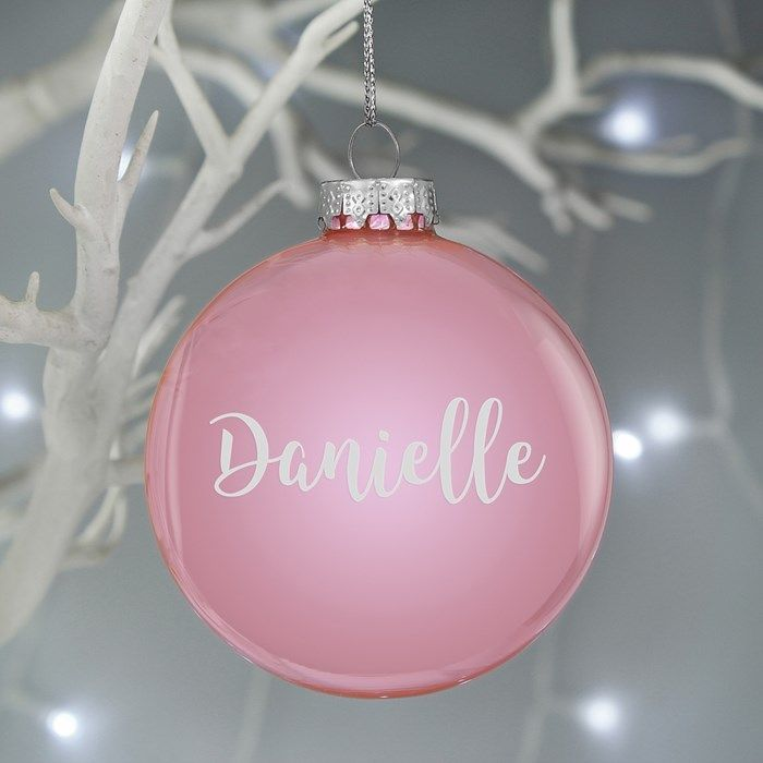 Personalised Cute Silver Angel Decoration Ornament Bauble laser engraved name