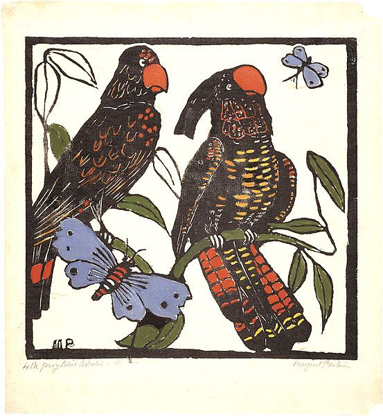 Margaret PRESTON, Black cockatoos