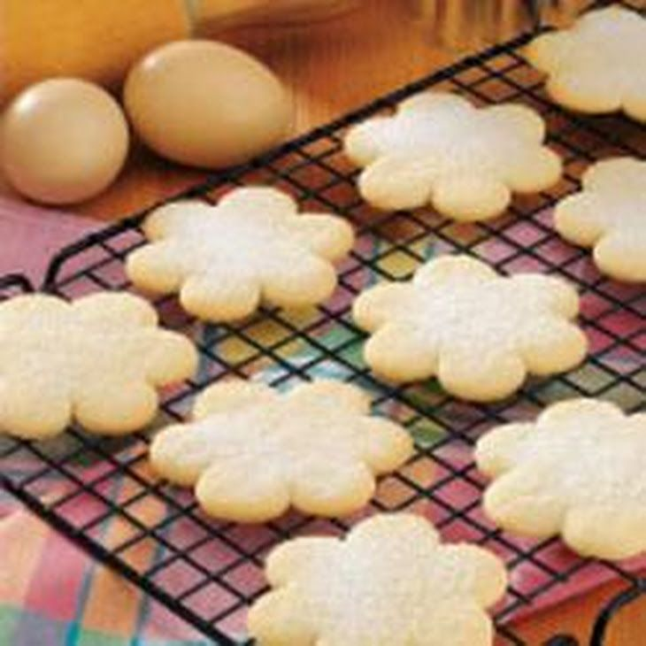 Old-Fashioned Cutout Cookies Recipe Desserts with butter, sugar, eggs, milk, vanilla extract, self rising flour, sugar