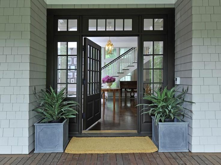 Black Front Door Ideas. Traditional Front Door With A Splash Of ...