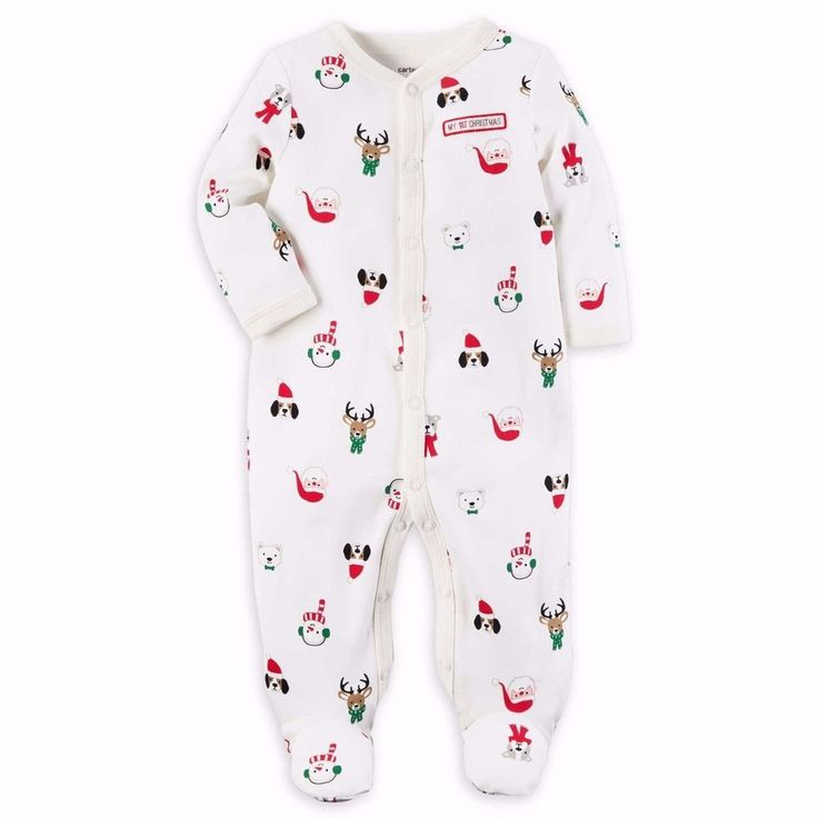 NWT Carter's My 1st Christmas Footie Pajama Baby Christmas Clothing Unisex 9M #Carters #Holiday