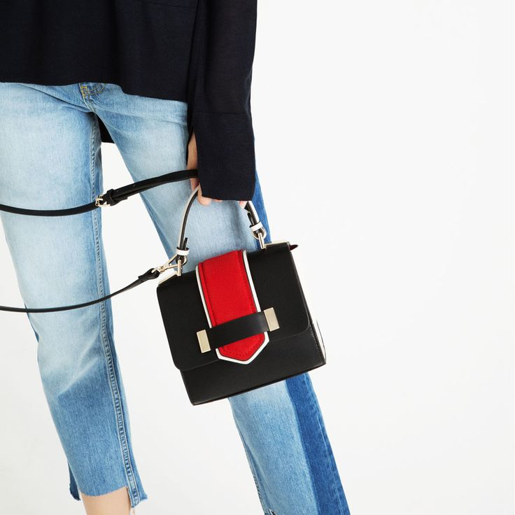 CONTRAST MINI CITY BAG-View all-BAGS-WOMAN | ZARA United States