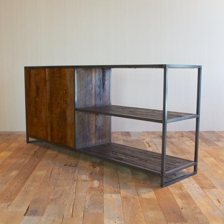 Handmade Media Cabinet, Reclaimed Wood From New York City. $1,595.00, Via  Etsy.