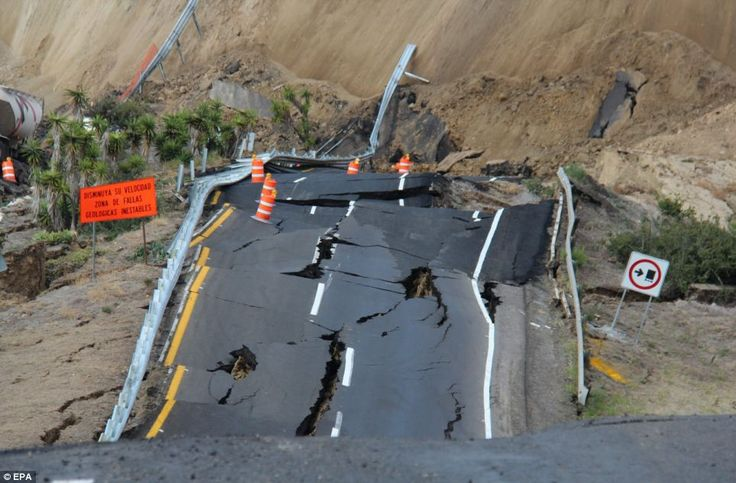 Fault line: Days before the road collapsed, several small earthquakes were…