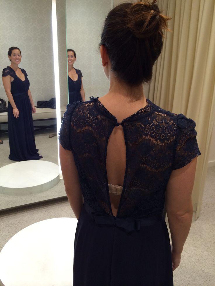 Back of Rachel's maid of honor dress