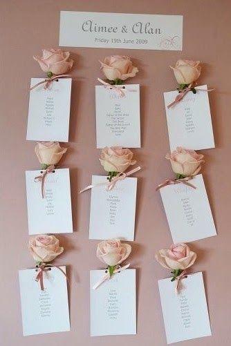 Asignar los asientos en una boda o celebración de forma creativa_rosas | DEF Deco | Decorar en familia - Table plan