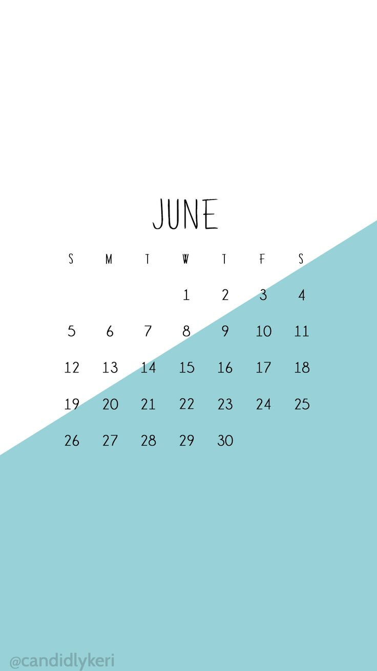 Calendar Wallpaper Iphone : Blue and white color block june calendar wallpaper