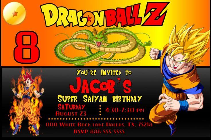 Dragon Ball Z Birthday Invitation - Invitacion de ...