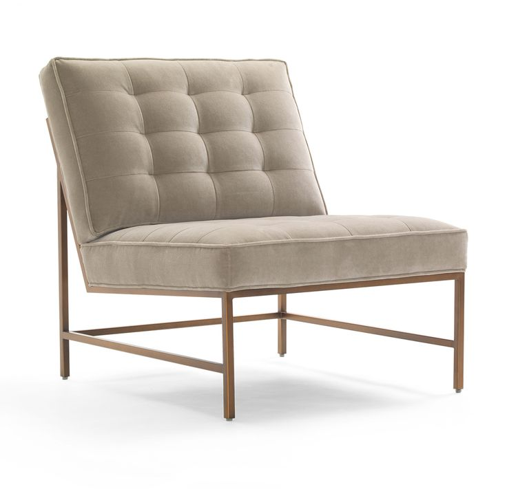 The Major Chair Satin Brass Finish By Mitchell Gold + Bob Williams Is  Clean, Current And Comfortably Modern.