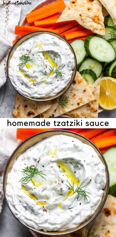 Easy Homemade Tzatziki Sauce Recipe In 2020 Homemade Tzatziki Homemade Tzatziki Sauce Tzatziki Sauce
