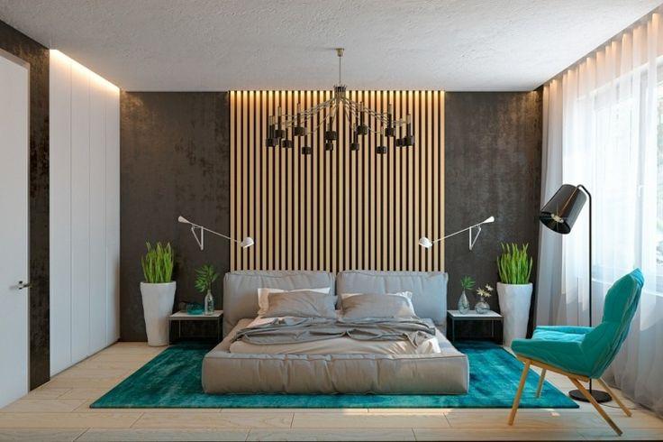 Lambris mural design et panneaux d co en lamelles de bois - Fauteuil pour chambre adulte ...