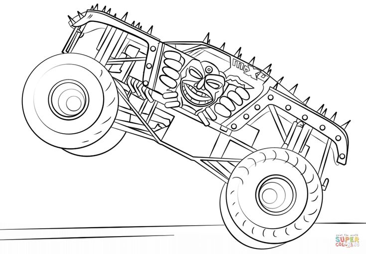 Max-D Monster Truck coloring page from Monster Truck