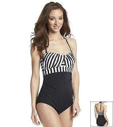 Jantzen® Harbour Stripe Bandeau One Piece Swimsuit
