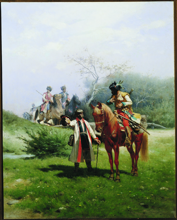 A Reconnoitering Expedition - by Wladyslaw Szerner, ca. 1870; oil on canvas; donated by Mr. & Mrs. Peter P. Yolles.