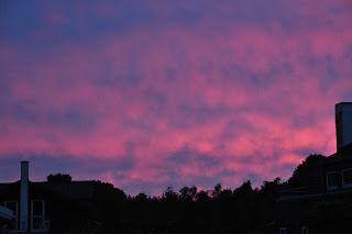 Summer night sky... beautiful mix of pink, blue and purple - #loveit