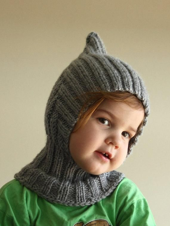 (6) Name: 'Knitting : Knit Balaclava - Pixie Hooded Scarf