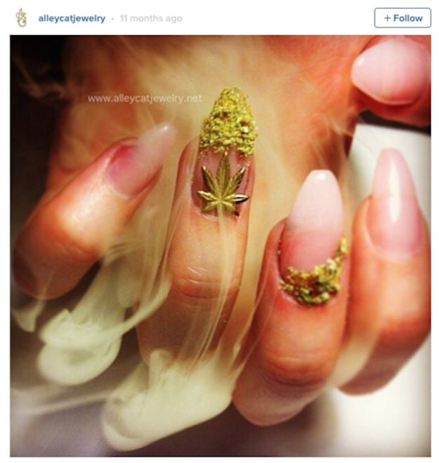People Are Using Actual Pot To Get These Amazing Weed Manicures