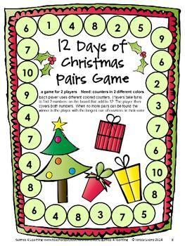 Christmas math games first grade fun christmas activities for Cool math games christmas
