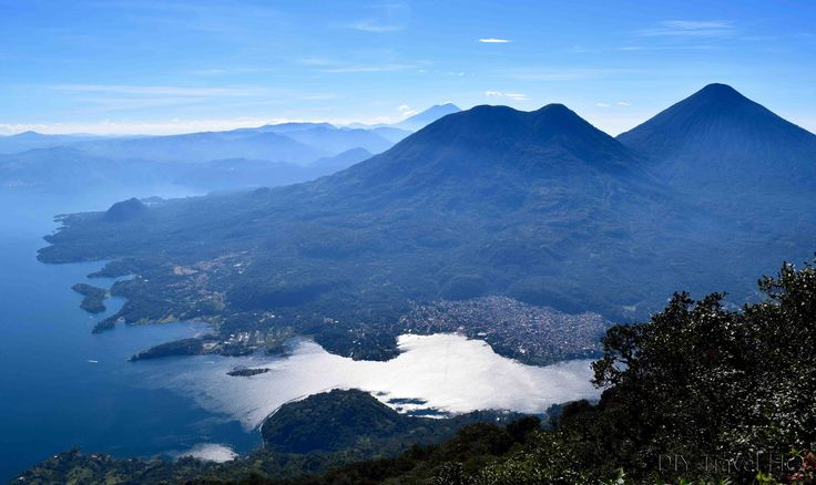 Volcan San Pedro looms over Lake Atitlan in Guatemala with fine views - find out everything you need to know on how to hike Volcan San Pedro without a guide