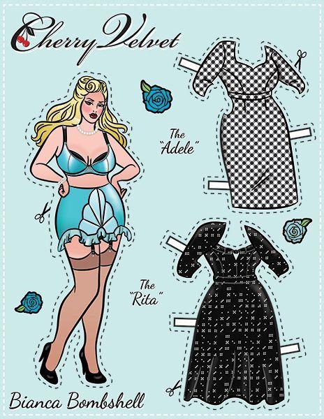 Pin-Up Paper Dolls! – Cherry Velvet Plus http://www.cherryvelvetplus.com/pages/pin-up-paper-dolls: