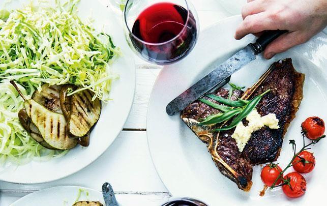 Old school T-bone steak med pisket smør