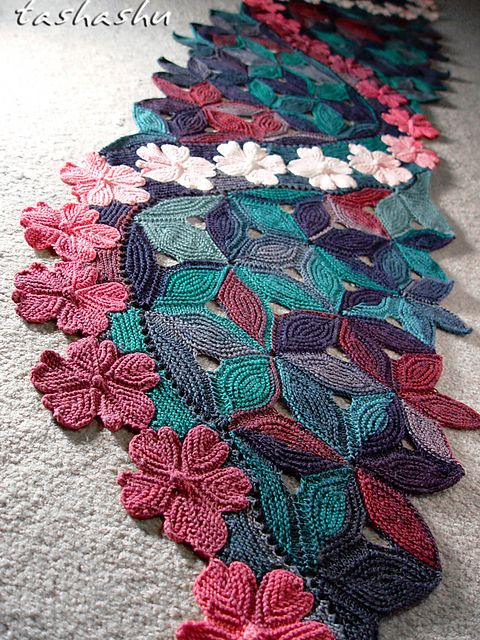 Ravelry: Knitted Scarf Sakura pattern by Svetlana Gordon