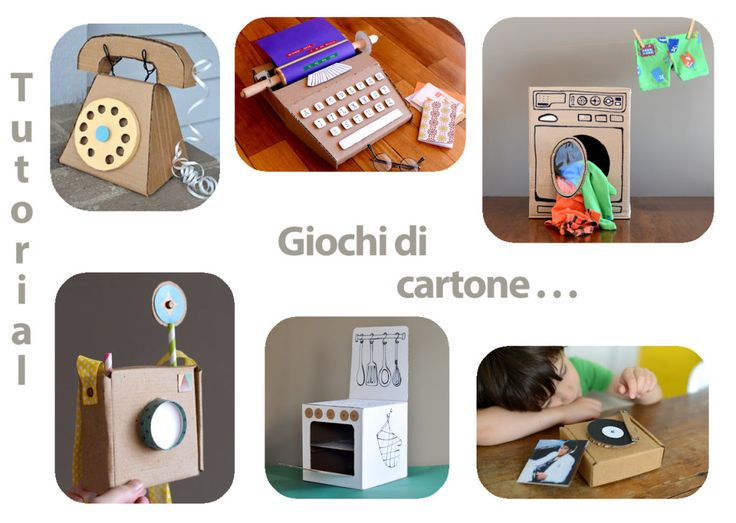 Tutorial di giochi per bambini da fare con cartone.
